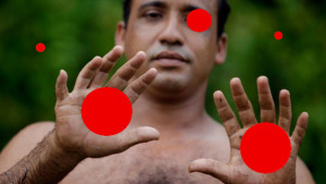 5 red balls optical illusion